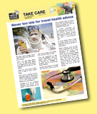 Travel Clinics Australia Newsletter for travellers